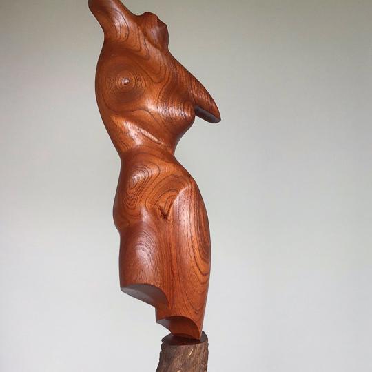 Carved Red Cedar Torso