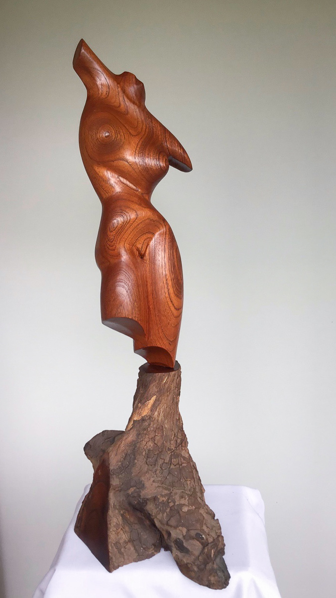 Carved Red Cedar Torso